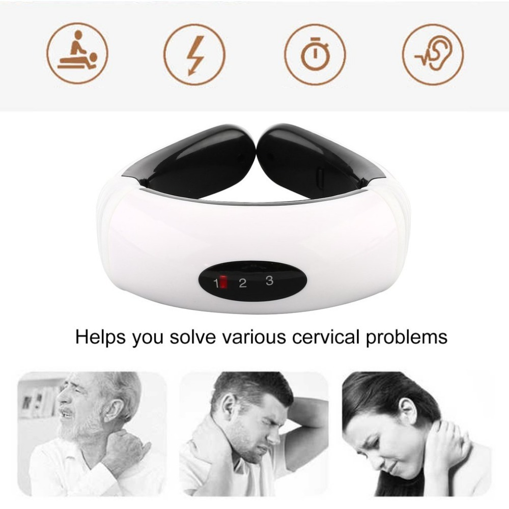 Magnetic Therapy Neck Massager Cervical Vertebra Physiotherapeutic Protection Spontaneous Heating Belt Body Massager