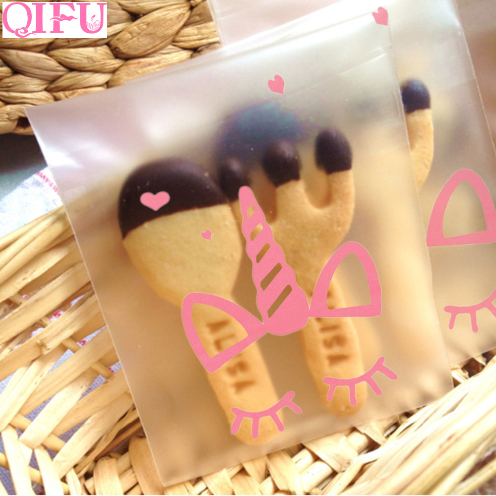 100pcs OPP Clear Bags Multi Usage Cellophane Pouch for Bakery Candy Soap Cookie