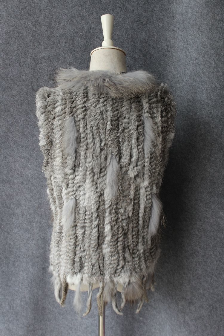genuine real rabbit fur vest with raccoon fur collar (22)