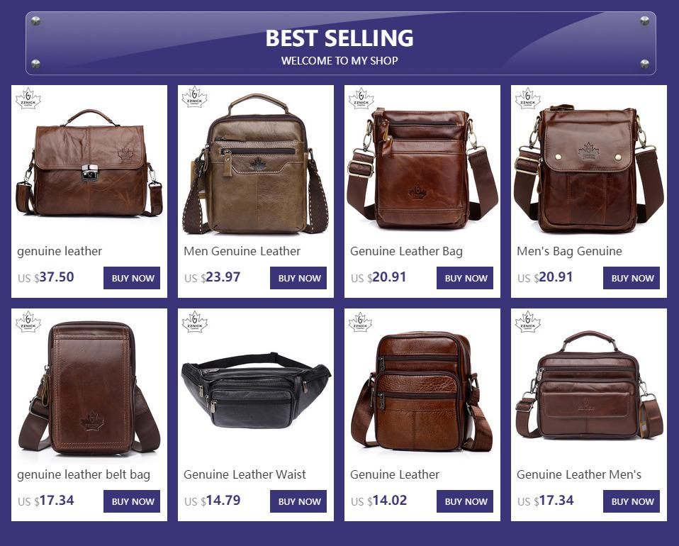 2019 New Arrival Genuine Leather Bags For Men Shoulder Bag MenS Bag Messenger Bag Portfolio Flap Pocket