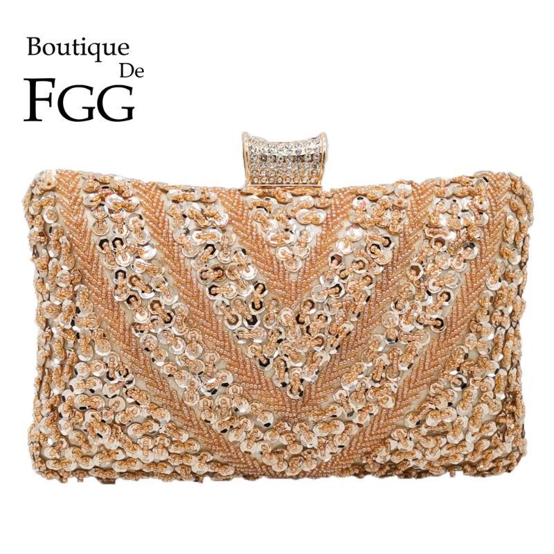 lightclub Trendy Rhinestone Inlaid Wedding Party Handbag Elegant Women Envelope Clutch Purse Envelope Evening Bag and Clutch Champaign Gold