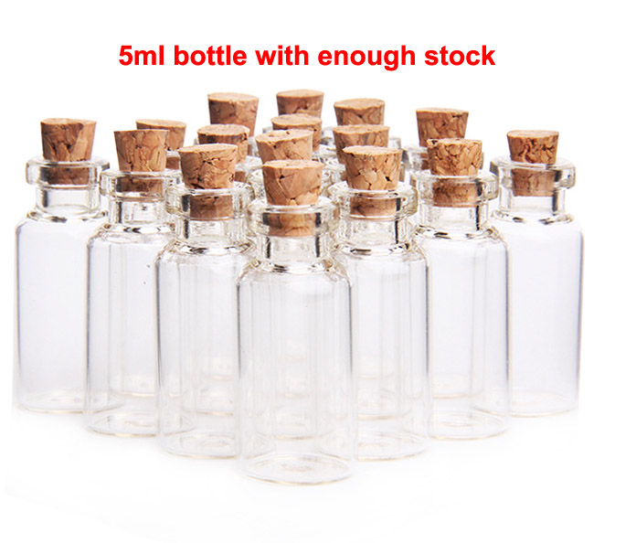 10pcs Small Sample Vials Glass Bottles Corks Jars Message Pendants Craft