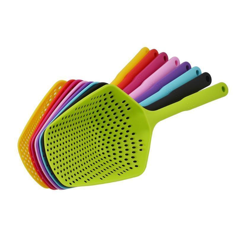di plastica antiaderente di scarico pala filtri acqua pala Pala di ghiaccio pesca recinzione scolapasta cucina gadget strumento di cottura