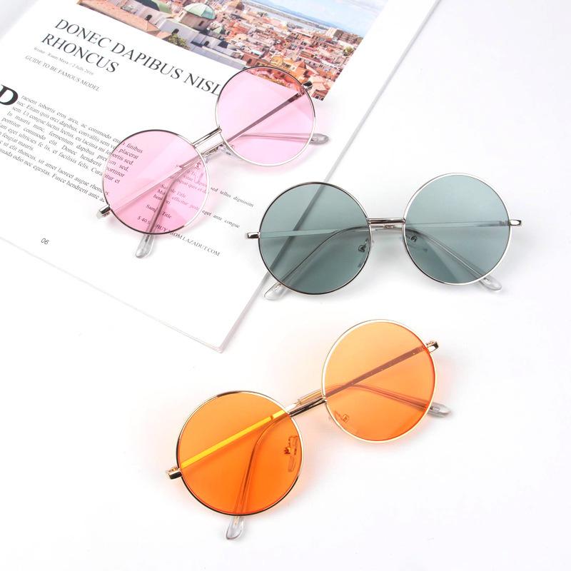 Boys Metal Sunglasses Goggles Dark Glasses Anti-UV Candy colors Kids Girls Baby