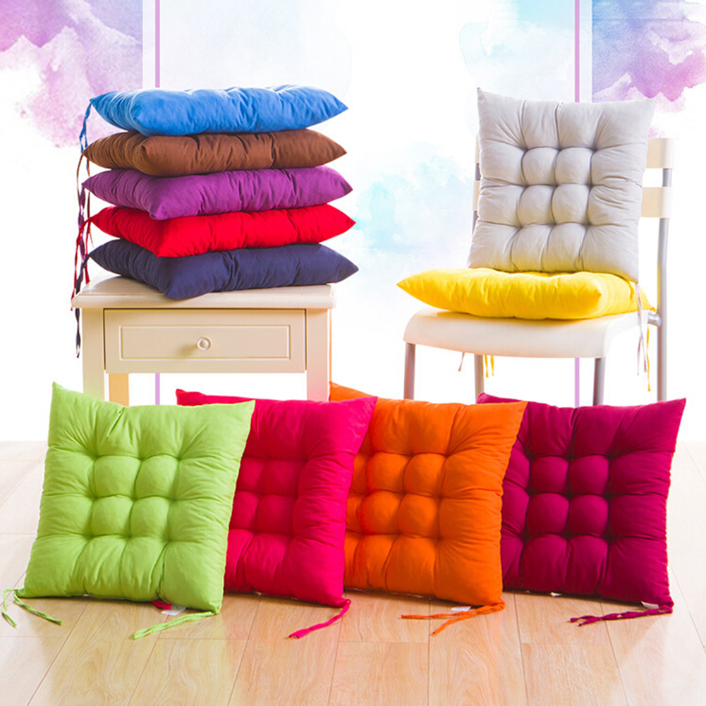 Flower Shaped Soft Plush Seat Cushion Waist Cushion Pillow for Office Orange