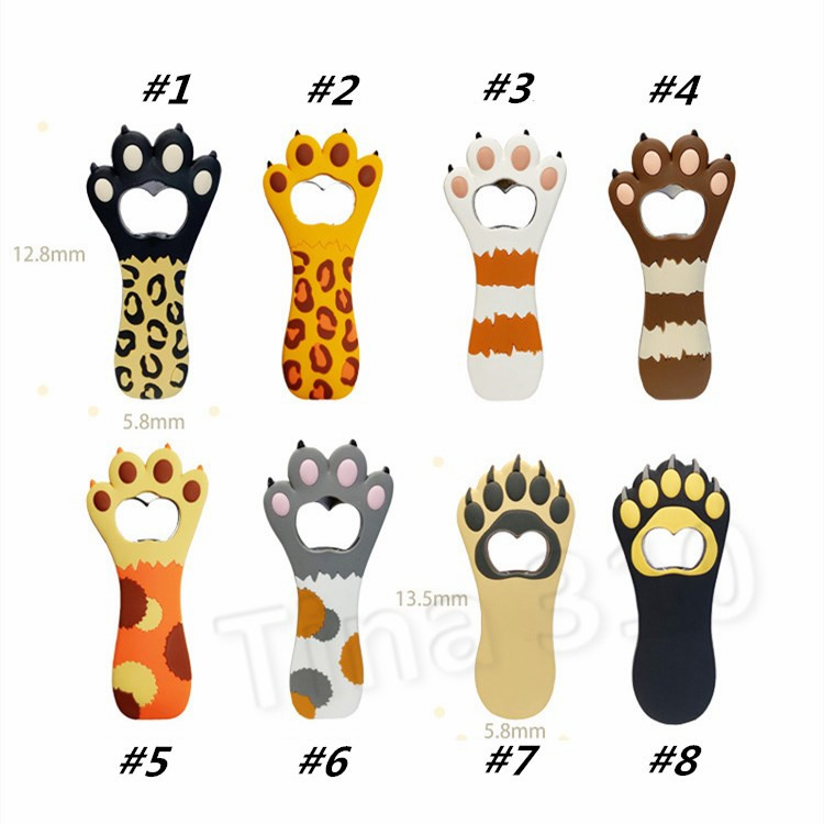2 Pack Cat Paw Claw Shaped Bottle Beer Opener orkscrew for Unique Party Favors Kitchen Gadget Bar Tools