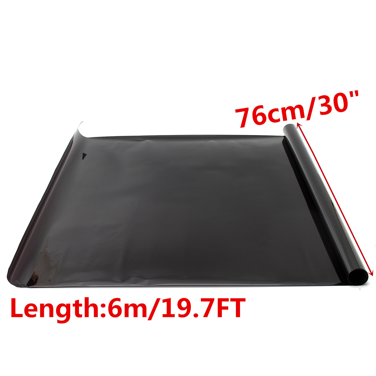 6M*76CM Dark Black Car Window Tint Film Glass VLT 755% Roll 1 PLY Car Auto House Commercial Solar Protection Summer
