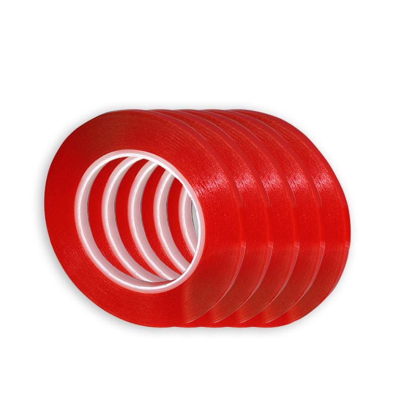 3 m Vermelho Dupla Face Fita Adesiva de Alta Resistência Acrílico Transparente Sem Traços Etiqueta Para O Interior Do Carro Auto Fixo SH190727