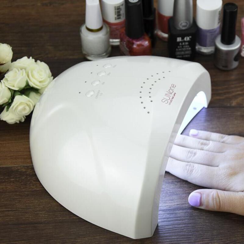 Brand Sunone 48w/24w Led Uv Lamp Nail Dryer For Curing Gel Polish Art Tool Light Fingernail Toenail 5s 30s 60s Manicure Machine J190713