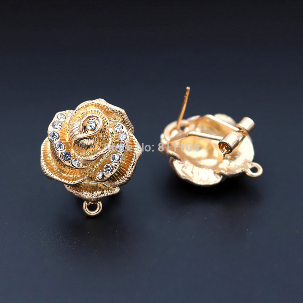 Rose Flower Magnetic Clasps Hooks Connectors Jewellery Findings