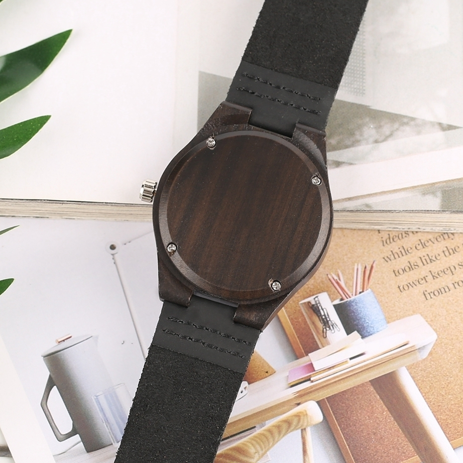 Lovers Gifts Luxury Royal Ebony Wood Watch Mens Fashion Wooden Women Dress Hour Clocks Soft Genuine Leather Relojes Wristwatches 2018 (31)