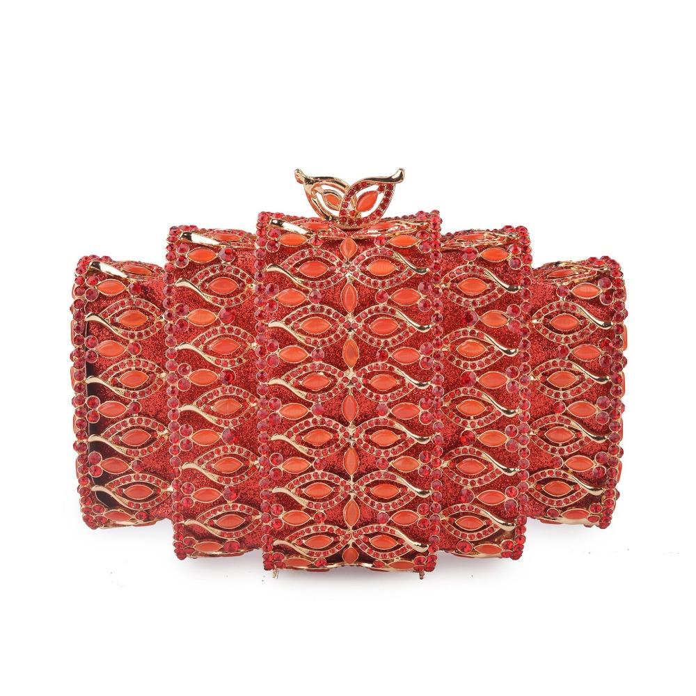 CRISTALLO Diamante Rosa Glitter Oro Forma Triangolo Da Sera Da Sera Pochette Da Sera