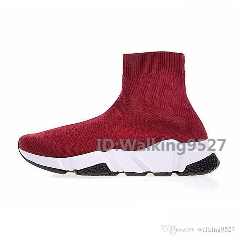 Paris Sock Shoes Speed Triple S Повседневная обувь Модный бренд-дизайнер Тренер Черный Красный Тройной Черный Повседневные носки Кроссовки 36-45