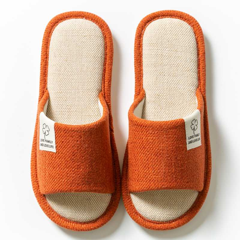 Flax Slipper Home Slippers for Summer Lightweight Non-Slip C2