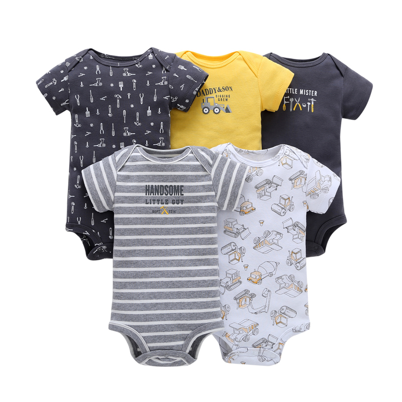 BABY BOY GIRL BODYSUIT cotton o-neck short sleeve Cartoon unisex infant summer clothes 2019 newborn costume 6-24 month