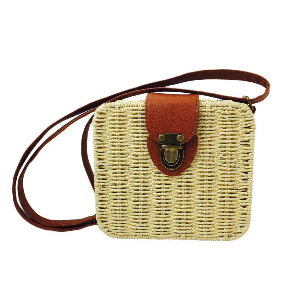 640c43a7a8 Designer 2019 Estate Piccole donne Borse di paglia Rattan spiaggia tessuta  borse a tracolla donna Crossbody