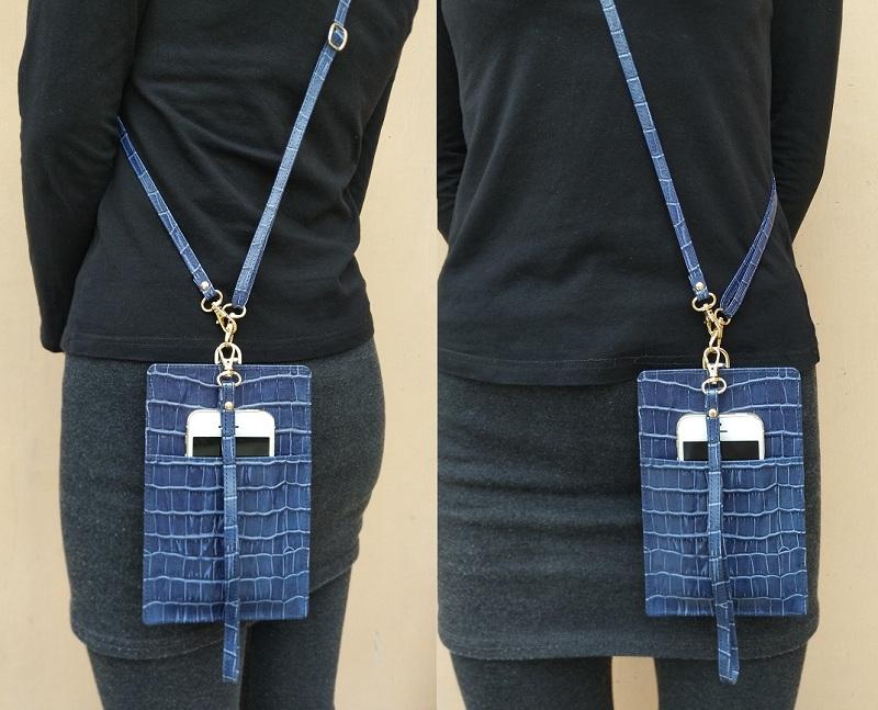 blue cross body strap