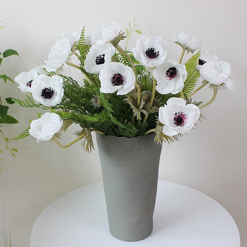 home decor silk floral arrangement floral decor tropical.htm 2020 real touch anemone artificial flower for home wedding  real touch anemone artificial flower