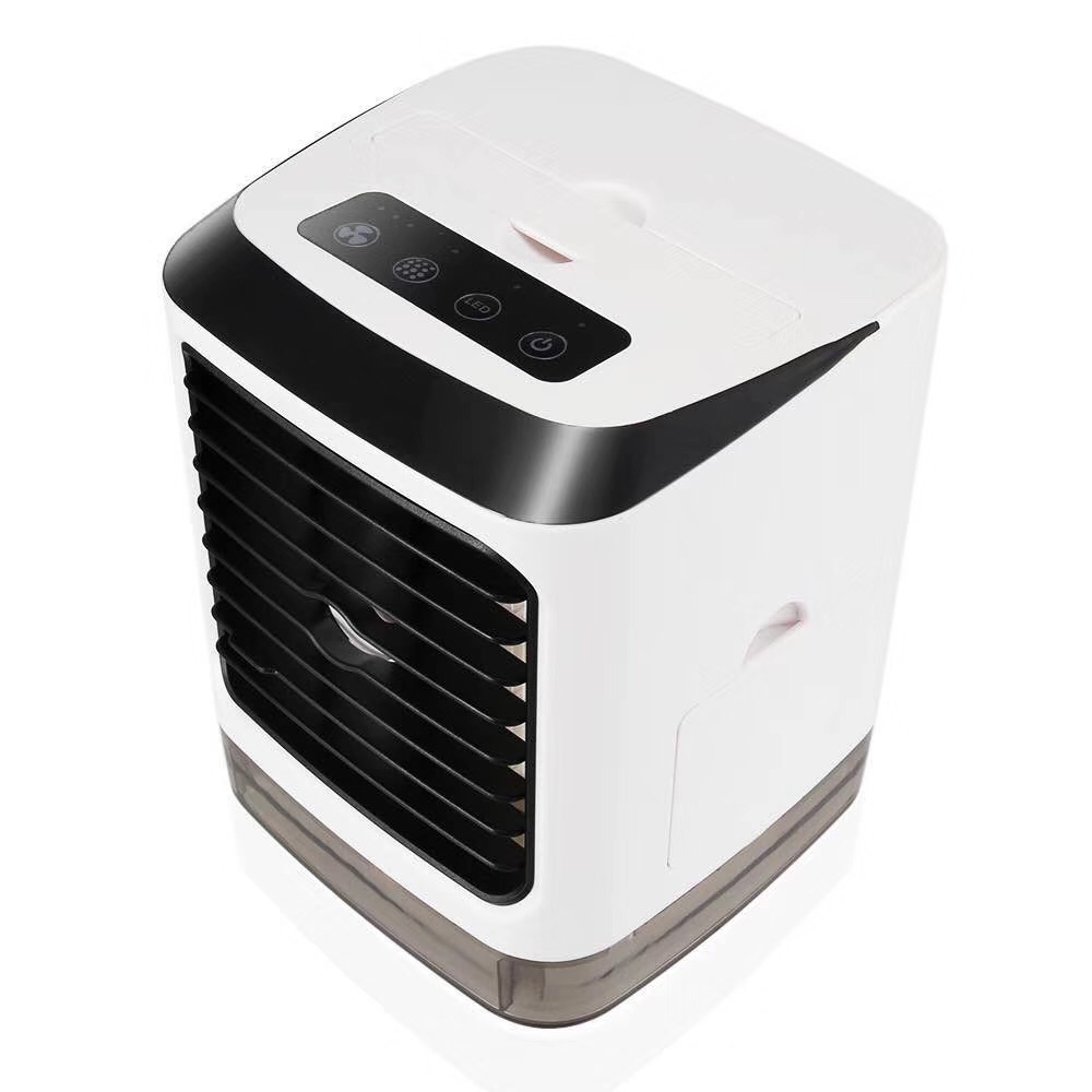 Color : 01 Air Cooler Turbo Double Leaf Mini Desktop USB Small Fan Air Cooler Cycle Home Dormitory Fan