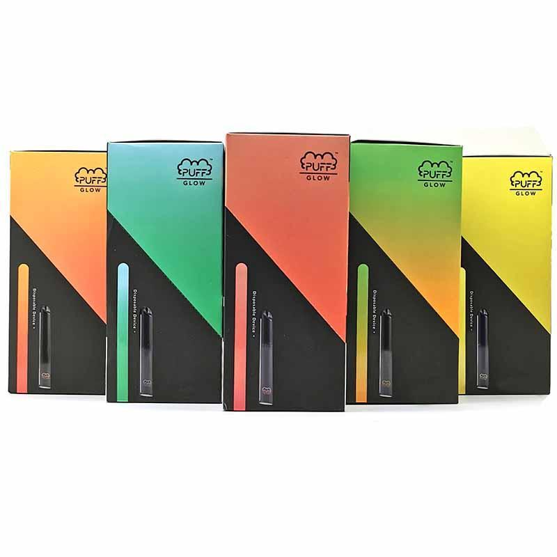 PUFF Glow Divice Disposable Vape Pen 1.4ml LED Disposable Pod Puff Bar Glow In Stock With Security Code