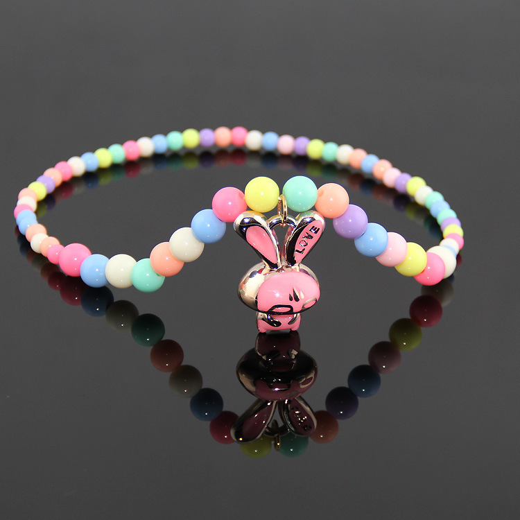 Candy Color Handmade Beads Necklace Children Necklaces Girls Fashion Jewelry