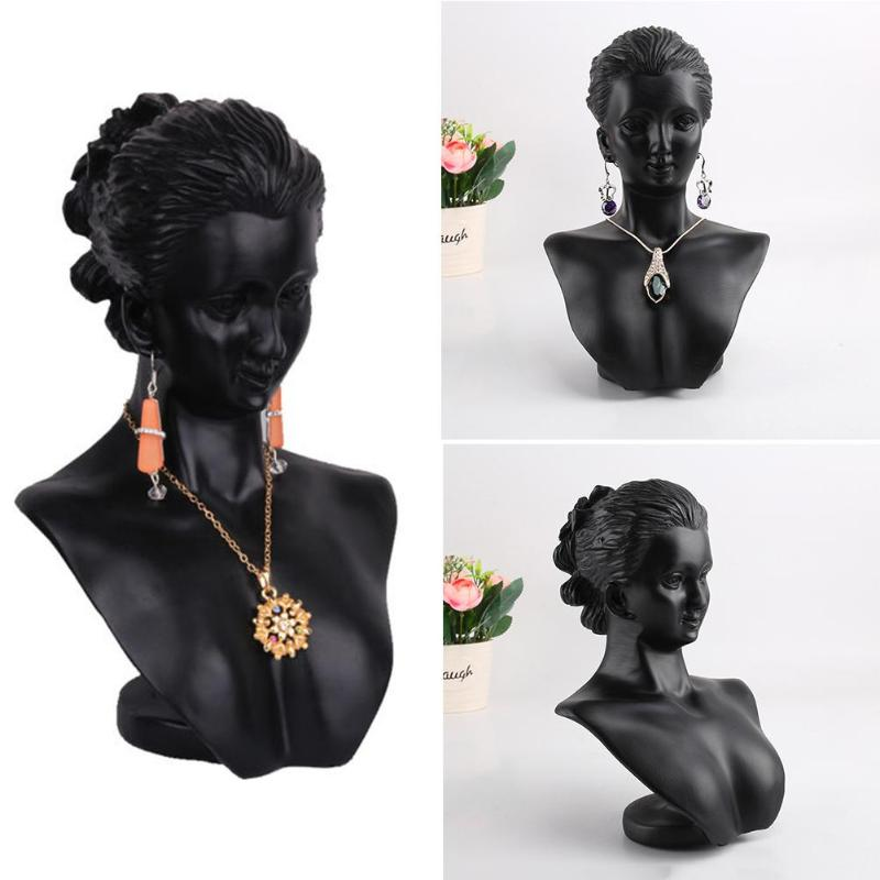 Creative Earrings Necklace Figurine Display Stand Jewelry Show Case Rack