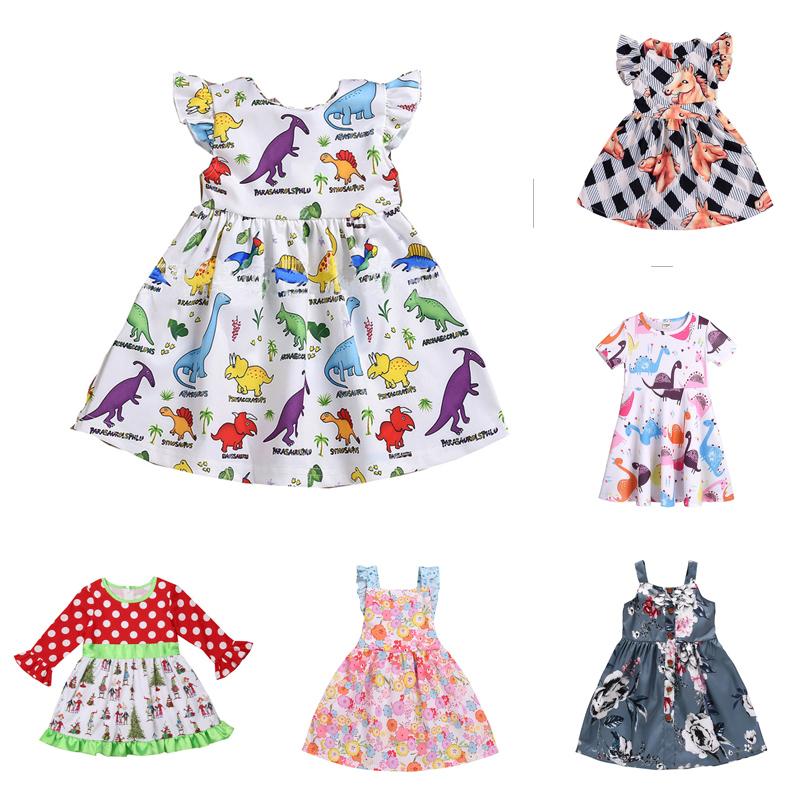 Para bebê recém-nascido Menino Dinossauro meninas Vestido De Princesa Festa Escala Roupas Fantasia