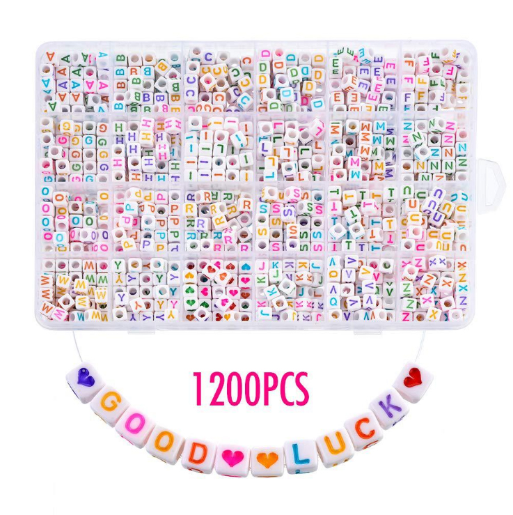 480pcs Colorful Acrylic Number Letters A-Z Beads for Bracelets Necklaces DIY