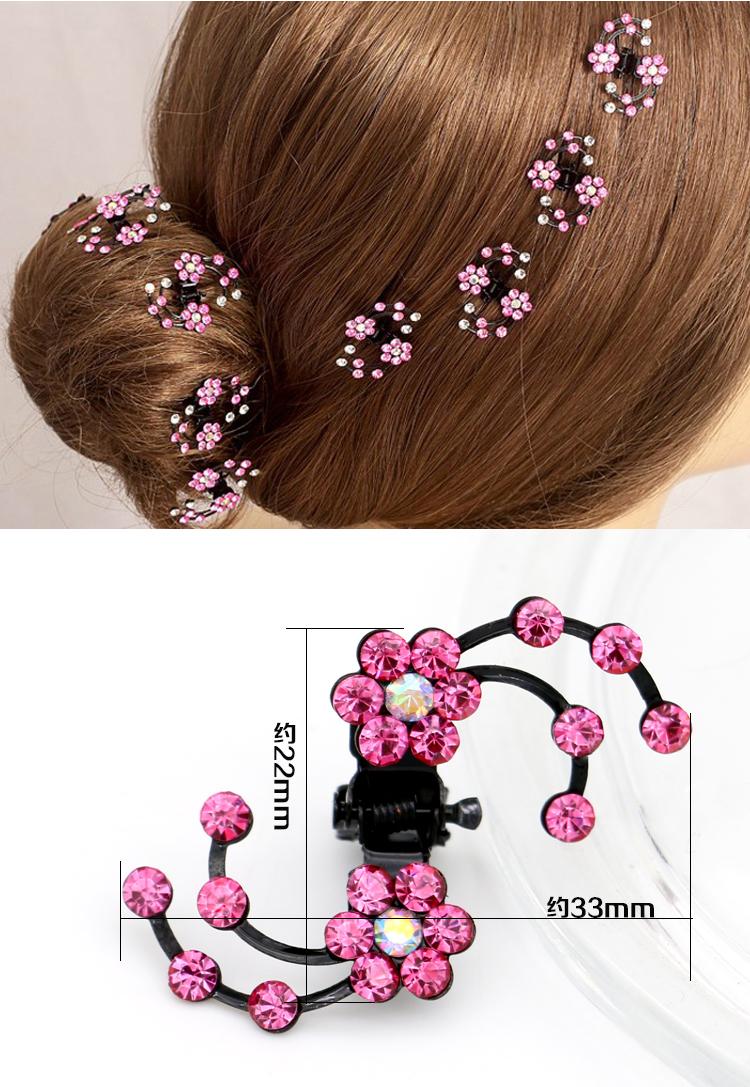 2017 Fashion Plum Flower Rhinestone Women Girls Hair Claw Clips Hairpins Barrettes Accessories For Children Hair Ornaments