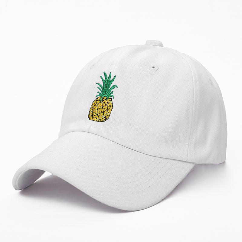 Fruit Casual Ananas Broderie Hommes Femmes Casquette Snapback Chapeau