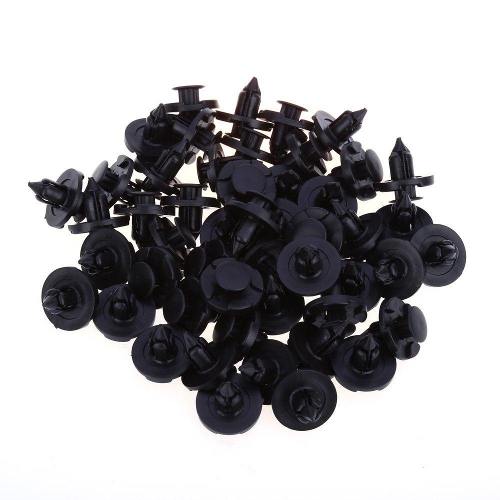 120 pezzi 8mm carrozzeria in plastica Push Pin Rivet fissaggi