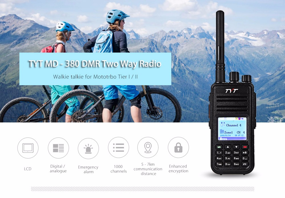TYT MD - 380 DMR Portable Walkie Talkie Digital Two-way Radio Transceiver