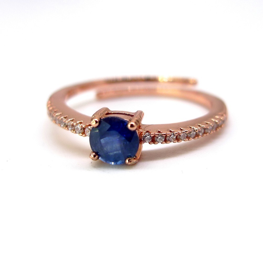 real sapphire ring women 925 sterling silver jewelry