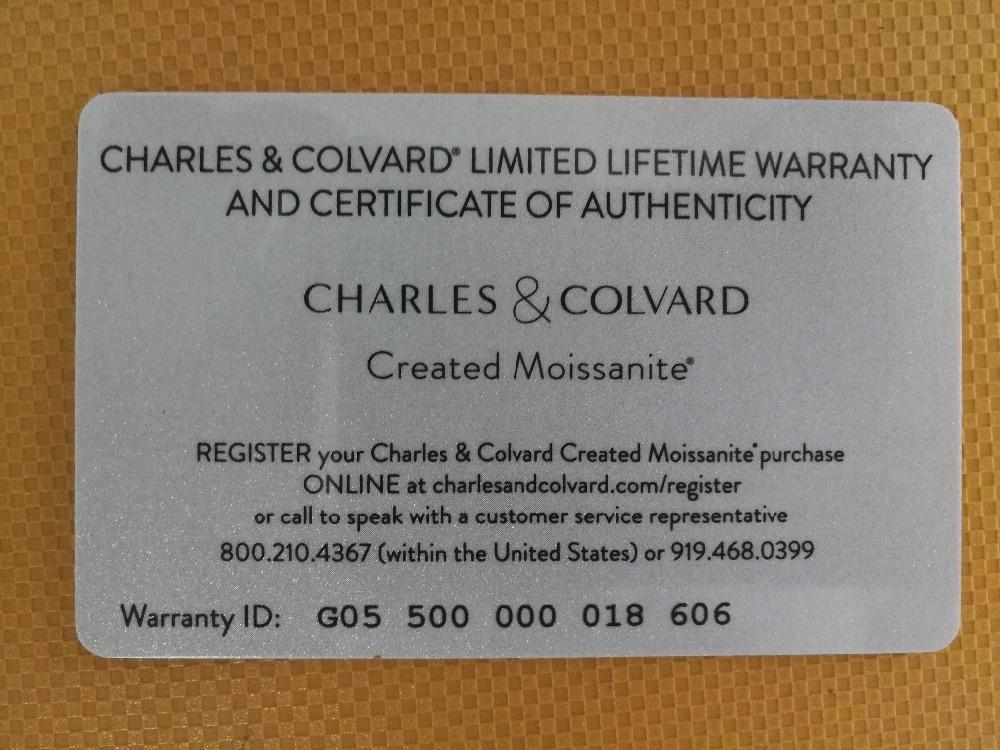 Moissanite Certificate 1