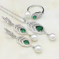 925-Sterling-Silver-Jewelry-Sets-Natural-Green-Cubic-Zirconia-White-Pearl-For-Women-Drop-Earrings-Ring.jpg_200x200 (1)
