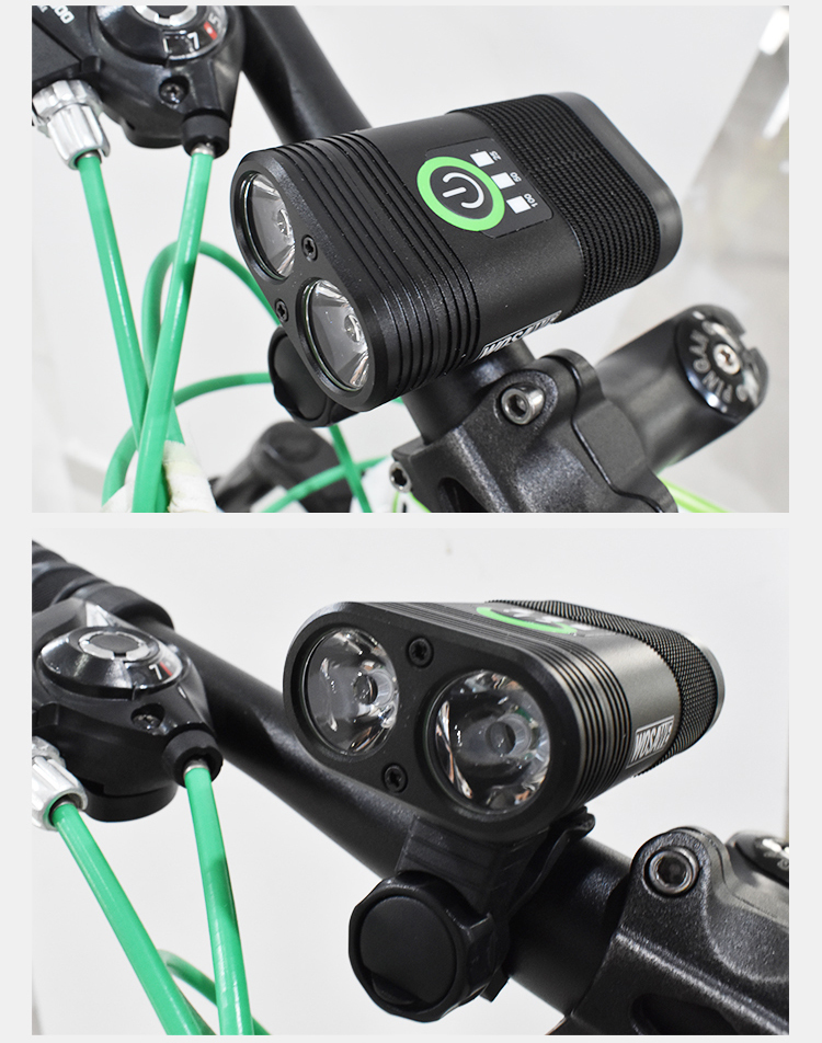 2400 Lumen Bike Lights 5 Mode IP-67 Waterproof Aluminum Alloy Bicycle LED Headlight USB Rechargeable Cycling Flashlight