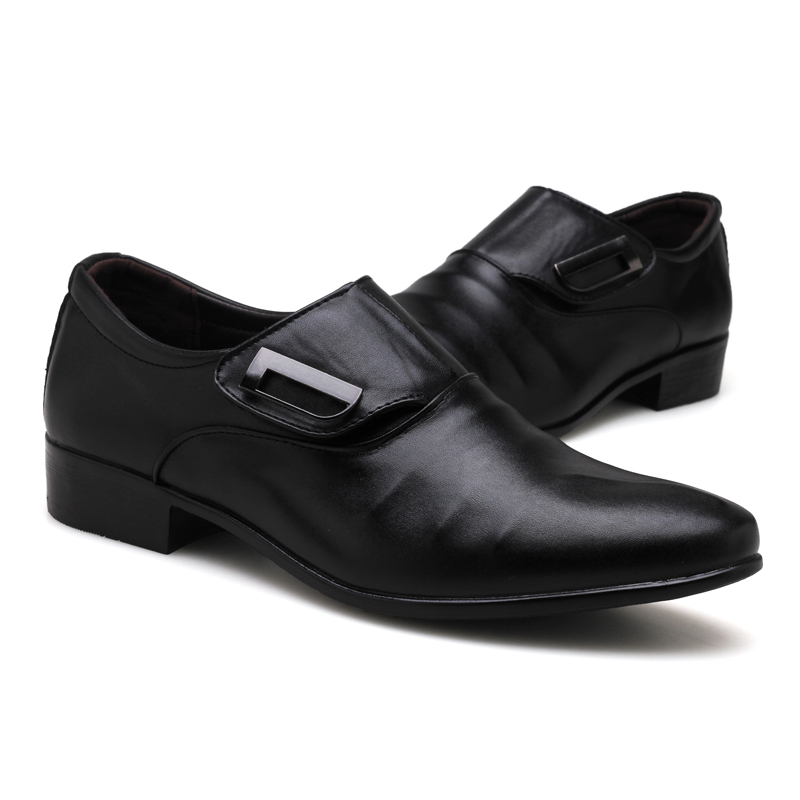 Brand New Men's Dress Shoes Size 38-48 Black Classic Point Toe Oxfords For Men Fashion Mens Business Party Shoes Large Sizes