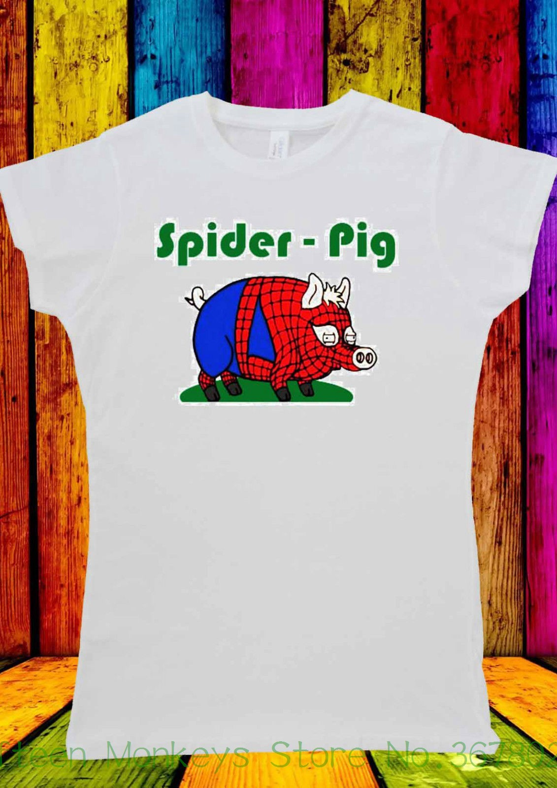 Blogger Spider Pig De Camiseta Tumblr Funny Compre Shirt Mujer T qwvOCPa