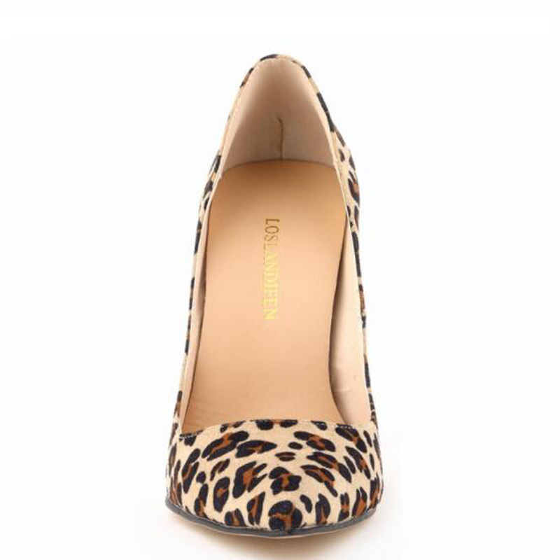 Dress Loslandifen Women European High Heels Pumps Sexy Leopard Printed Shoes Ladies European Snake Stiletto Shoes Plus Size 34-42
