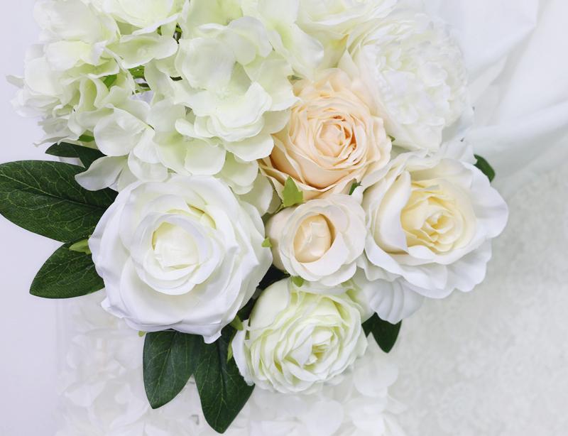 JAROWN Artificial Rose Flower Row Small Corner Flowers Simulation Silk Fake Flowers Wedding Decor Home Garland Decor Flores (15)