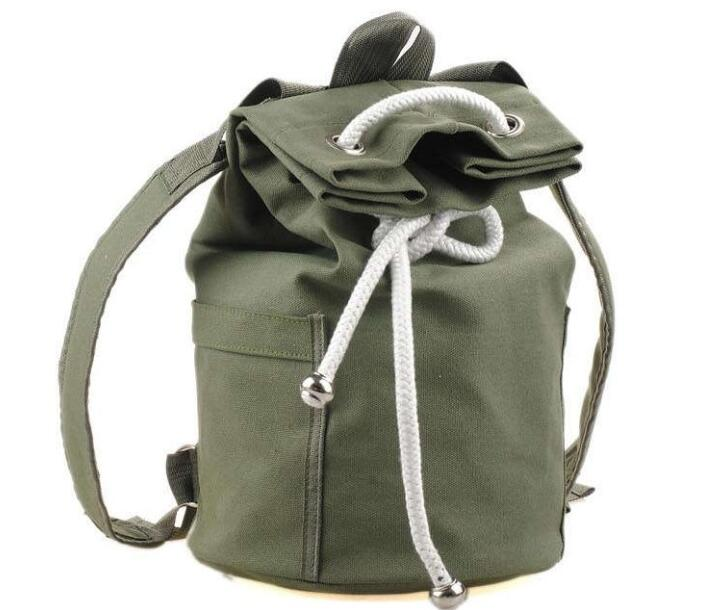Black Flower Tiger Beam Mouth Backpack Pull Rope Shoulder Bag Outdoor Sports Leisure Bag