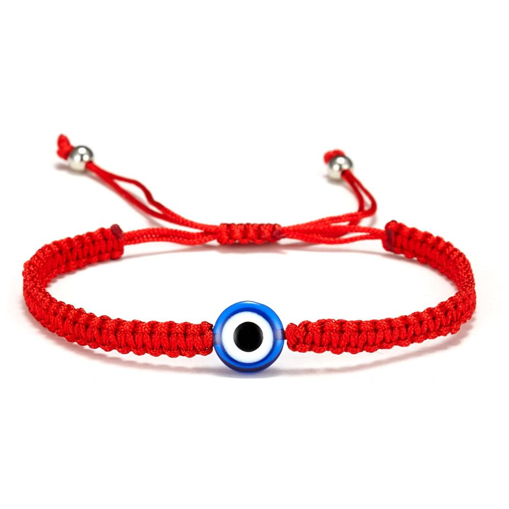 10pcs libre Fatma chaîne Mauvais Oeil Lucky Rouge Cordon Réglable Bracelet Hot