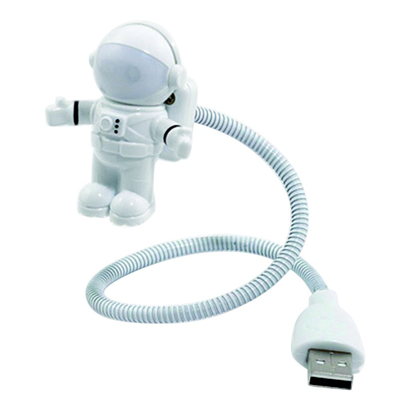 Spaziatore flessibile bianco Astronauta USB Tubo LED Lampada luce notturna computer portatile PC Notebook Lettura portatile DC 5V