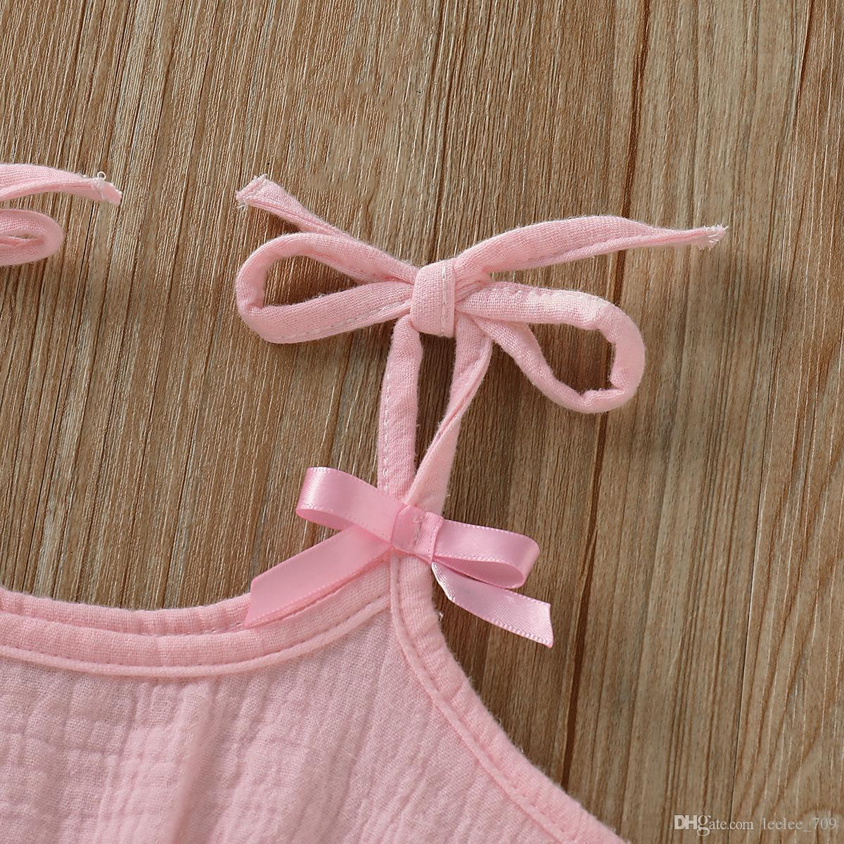 Ins Stylish Infant Baby Girls Overalls Rompers Summer Design Blank Ruffles Clothes Jumpsuits Toddler Outfits Cotton Bodysuits Suspender 0-2t