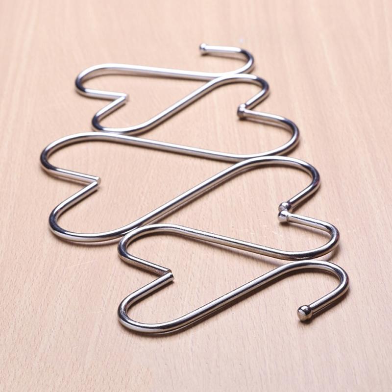 Ganchos de acero inoxidable en forma de S para colgar en la cocina el dormitorio y la oficina Yuhtech 30 unidades el ba/ño