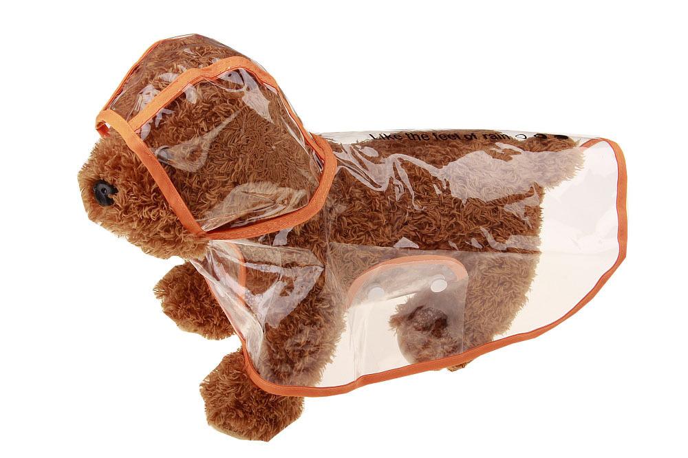 Gogo Raincoat Poodle York Summer Snow Transparent Pets Waterproof Poncho Small-sized Dog Transparent Raincoat