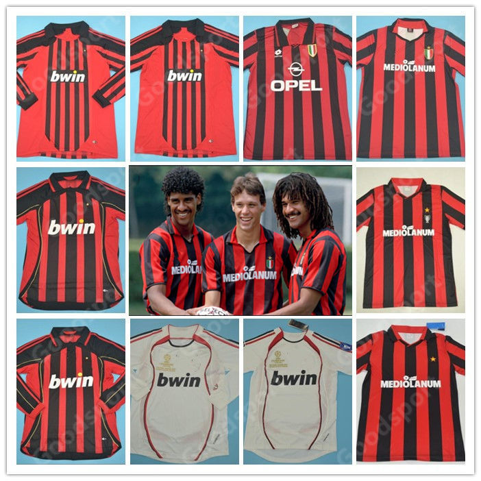Maglia Jersey AC MILAN 90//91 96//97 02//03 VAN BASTEN BAGGIO WEAH INZAGHI