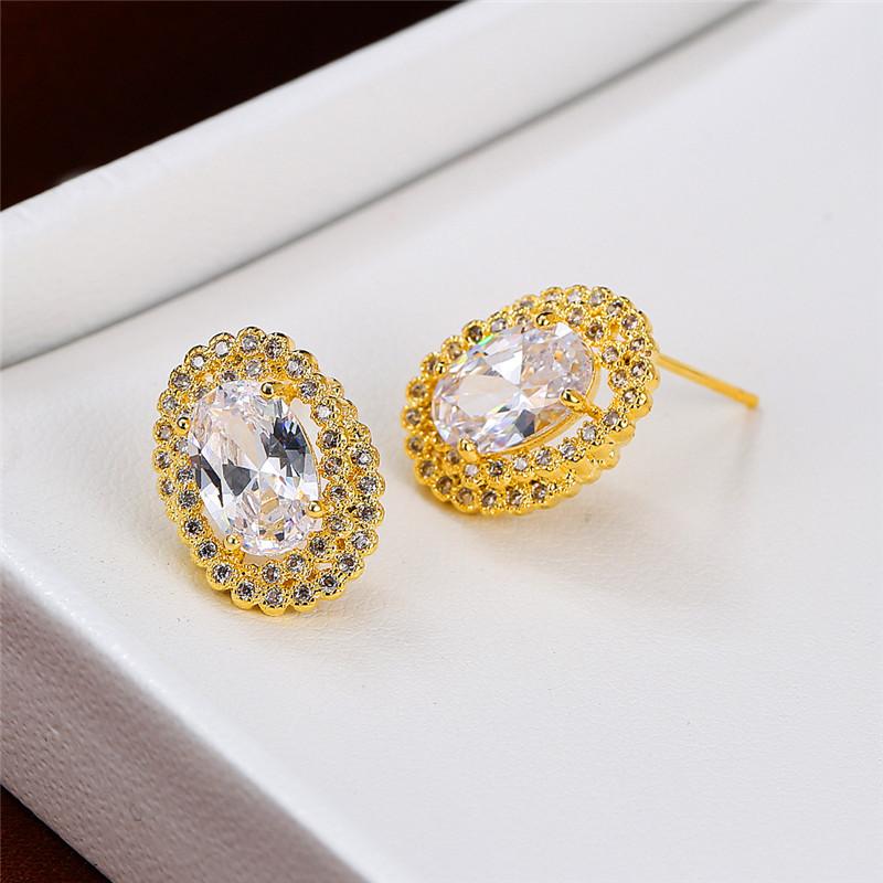 Fashion Drop Dangle Boucles d/'Oreilles Créoles Femme Or Jaune Rempli Multicolor Crystal
