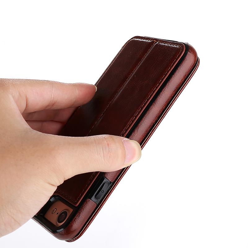 all'ingrosso Custodia magnetica iPhone 7 8 Plus Custodia in pelle di lusso Portafoglio Flip Cover Fundas Coque iPhone 7 8 Accessori del telefono