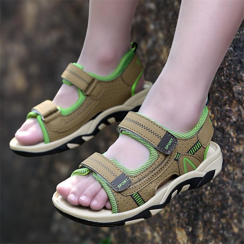 2020 Summer Boys Sandals Kid Sandals Children Shoes Cut-outs Rubber School Shoes Breathable Open Toe Casual Boy Sandal (23)